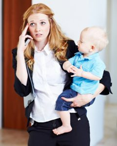 career woman and baby